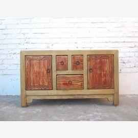China sideboard dresser natural color Vintage style pine timber