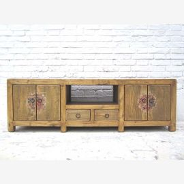 China Lowboard flat Sideboard for TV flat screen bright Pine Country Style by Luxury Park