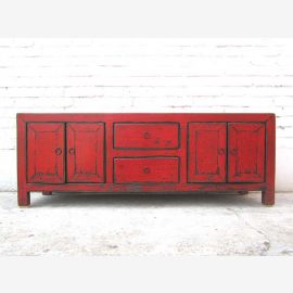 Asia TV Lowboard Chest Vintage style red brown by Luxury Park
