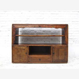 China Tibet 1910 small rustic dresser dresser with shelf assembly pine solid wood decorative frame by Luxury Park