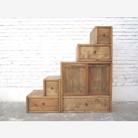 China stages dresser drawers country-style bright pinewood