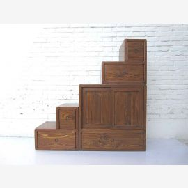 """China ideal for attic rooms with sloping stairs and dresser drawers many natural brown on both sides openable from """"Luxury-Park"""""""