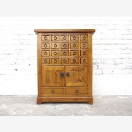 China sideboard chemist cabinet golden brown antique finish Pine Cottage Style
