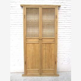 Asia high door with mesh 221x104cm Decor Antik 150 years virgin wood