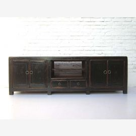 """China Sideboard Sideboard for TV flat screen flat black painted pine shabby chic flair by """"Luxury-Park"""""""