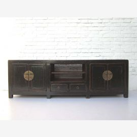 """China classic Sideboard Sideboard ideal for all flat black pine wood varnish ormolu """"Luxury-Park"""""""