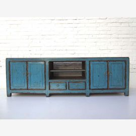"China Sideboard Sideboard ideal for flatscreen TV light blue pine shabby chic in optics by ""Luxury-Park"""