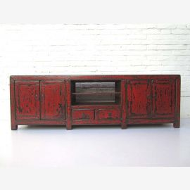 """China Lowboard low chest by drawers shabby chic look ideal for flat brown red pine from """"Luxury-Park"""""""
