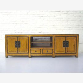 """China shabby chic dresser Lowboard flat for flat screen TV pine golden yellow by """"Luxury-Park"""""""