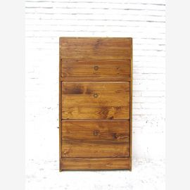 China shoe cabinet Shisham wood look bright pine 3 wide drawers and side drawers country style by Luxury Park