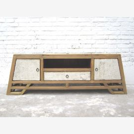 """China Shabby chic flat sideboard Sideboard for TV flat screen 2 doors and a pine Schüblade """"Luxury-Park"""""""