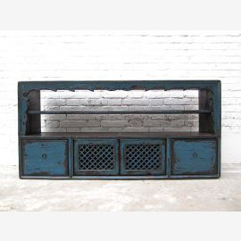 """Mongolia Lowboard dresser drawer for flat bar blue pine shabby style by """"Luxury-Park"""""""