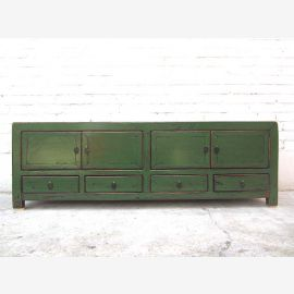 China TV Lowboard Antique Green Colonial 140x38x45cm