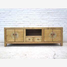 Asia TV Lowboard dresser wood-tone pine Luxury Park