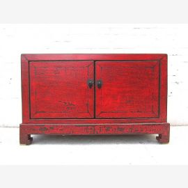 China sideboard console maroon vintage style finish solid wood by Luxury Park
