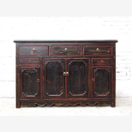 Asia Hebei 1890 Sideboard Chest sideboard antique black traces