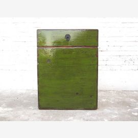 China Chest Shoe cabinet antique green coloring timber