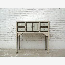 China wardrobe sideboard table antique white antique finish pine