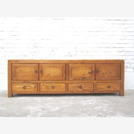China TV Lowboard dresser cottage style in Honey Brown