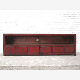 Asia extremely wide TV Lowboard dresser vintage look in Auburn