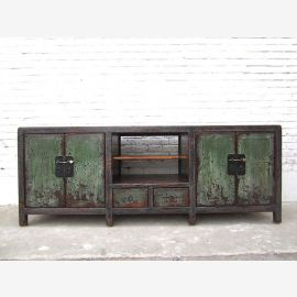 Asia very large TV Lowboard dresser used heavy Shabby chic in dirt color