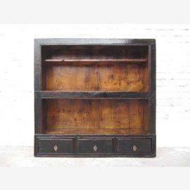 Tibet 1910 Shelves Dresser Sideboard antique black pine