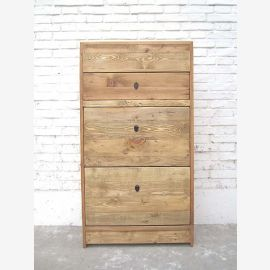 Asia drawers Shoe cabinet natural color timber country style