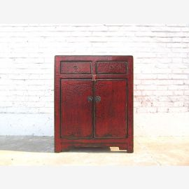 Asia dresser antique look maroon colonial style only by  Luxury Park