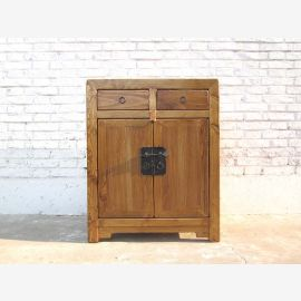 Asia natural wood dresser country-style metal fittings only by  Luxury Park