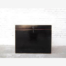 China chest colonial style black lacquer metal fitting only by  Luxury Park