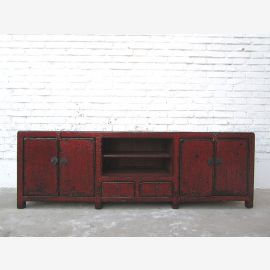 TV Lowboard dresser antique look maroon used look only by  Luxury Park