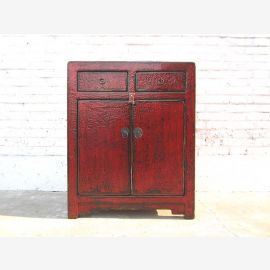 Cat litter box in dresser antique look maroon colonial style entrance closed only by  Luxury Park