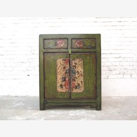 Cat Hygiene green dresser floral paintings China access right only  by   Luxury Park