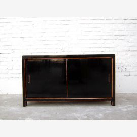 Litter box in black lacquer dresser Sliding China antique look only by  Luxury Park