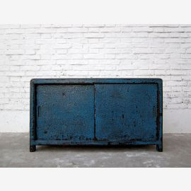 Cat litter box in blue dresser sliding China shabby chic only by  Luxury Park