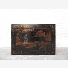 Cat litter in China antique style golden filigree painting on black lacquer only by  Luxury Park