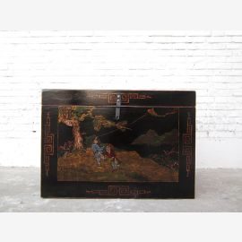 China litter fine golden paint on black lacquer Landscape only by  Luxury Park