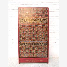 China shoe drawers Shoe cabinet traditional vintage painted pine