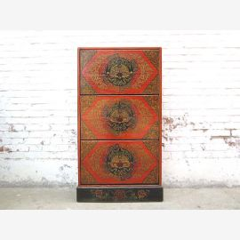 China Tibet mid-cut shoe cabinet rustic dresser classic painting here at Luxury Park