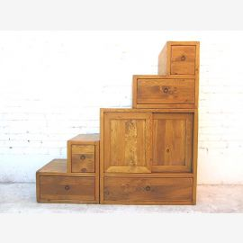 China Stairs dresser cabinet country style pine natural wood