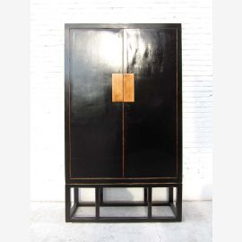 China large closet Black Anti clack ormolu solid pine