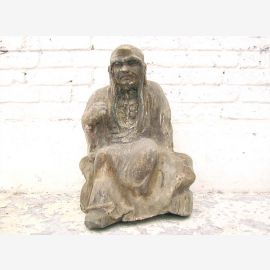 Monk sitting in meditation statue figure sculpture poplar China 1910 by Luxury Park