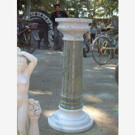 Antique-high pillar for Park classic two-tone marble