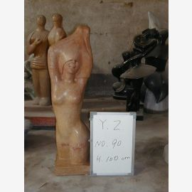 Torso nude sculpture standing brownish marble classical modernism