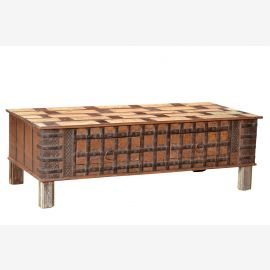 India 1960 long chest bench seat with base drawers Rajasthan