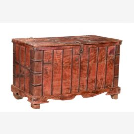 India 1960 large chest bench with teak base Rajasthan