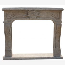 Fireplace Reims Marble Art Deco Style Antique Finish