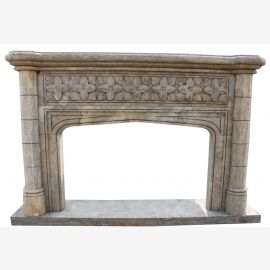 Country house castle fireplace Bologna gothic marble