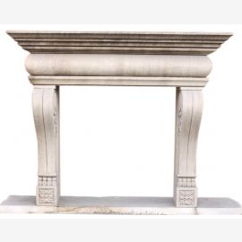 "Fireplace marble ""custom made"" model Turin antique finish"
