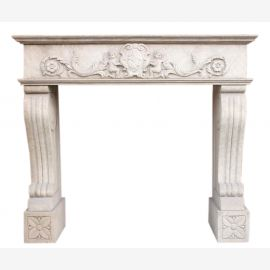 "Fireplace marble ""custom-made"" model Montenegro antique finish"
